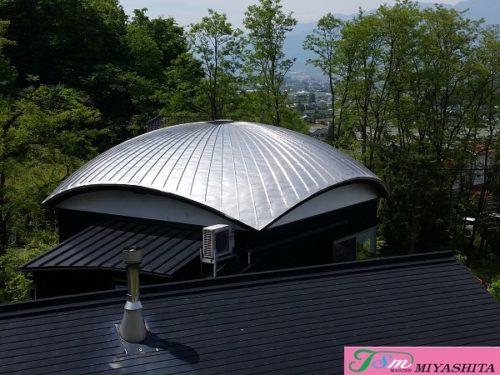 ステンレス防水、アーチ屋根