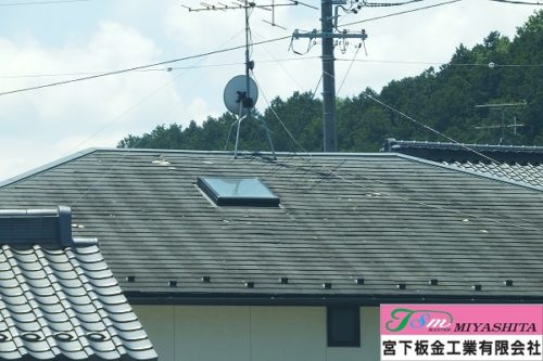 屋根、表面、化粧スレート屋根