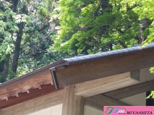 銅板屋根、ケラバ、曲げ加工