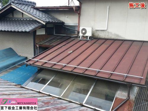 屋根、樋、完成写真