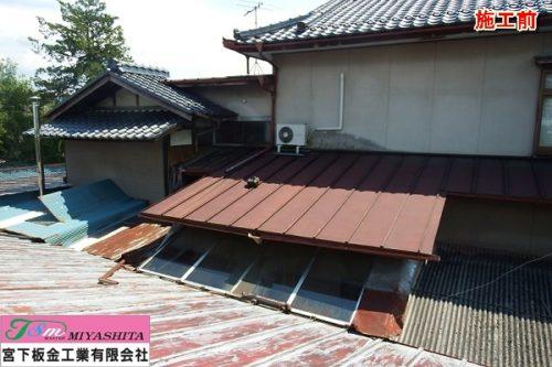 屋根、樋、現状写真