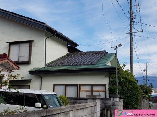 瓦屋根、横葺屋根、雨とい、袖葺き